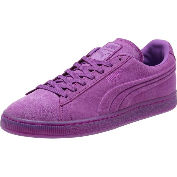 Puma Suede Embossed Iced Fluo Men's Sneakers ($42) ❤ liked on Polyvore featuring men's fashion, men's shoes, men's sneakers, purple cactus flower, mens sneakers, mens lace up shoes, puma mens sneakers, mens metallic gold sneakers and puma mens shoes