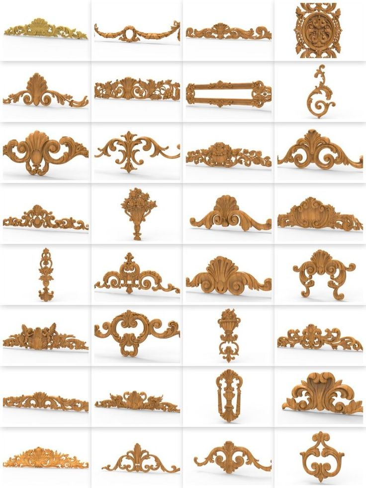 31 pcs decor CNC 3d Relief Model STL for Router Engraver Mill Woodworking