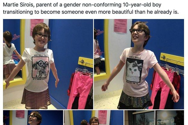 Mom thanks a girls' clothing store for making her gender-nonconforming kid feel welcome. Feels.