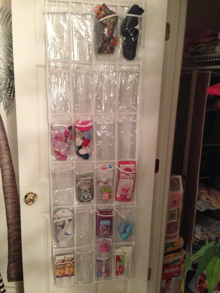 Nursery Organization - A simple over the door shoe rack