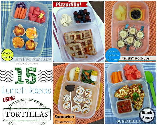 15 Tortilla Ideas packed for lunch with @EasyLunchboxes - Wrap it, Roll it, Bake it!