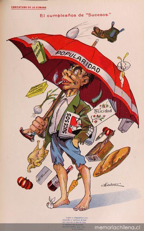 Revista Sucesos (1909). Ilustración de Carlos Weidner