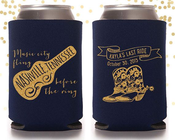 Nashville Bachelorette Party Custom Can Cooler by TheDrinkingBuddy