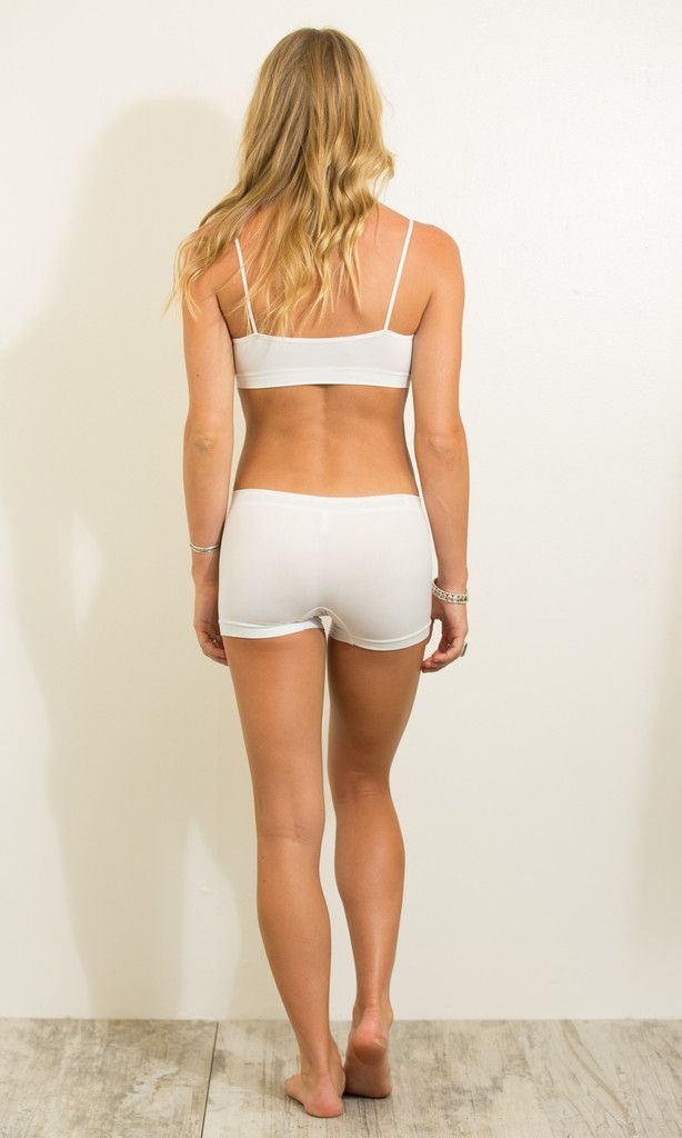 spandex shorts in white (one size)