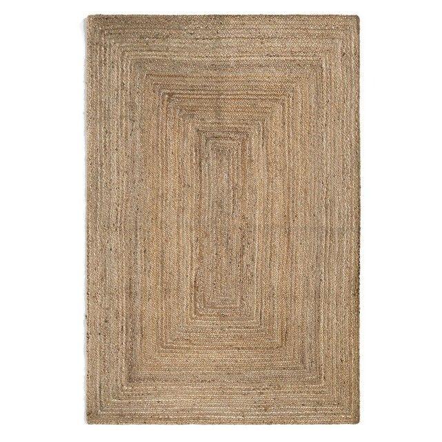 Tapis Rectangulaire En Jute, Hempy – Taille : 120×180 cm;200×290 cm;160×230 cm