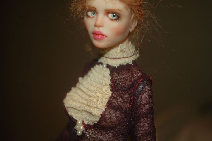 Isobel - Polymer clay OOAK doll sculpture by Tatiana Canini IADR