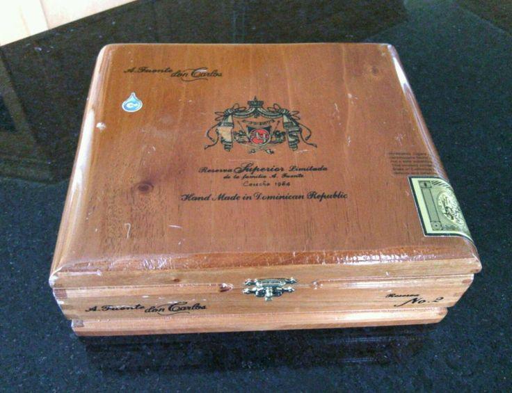 Solid Wood Empty Cigar Box  A. Fuente don Carlos Robusto Reserva Superior Limit  | eBay