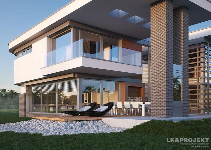 Projekty domów LK&Projekt LK&1133 wizualizacja 3