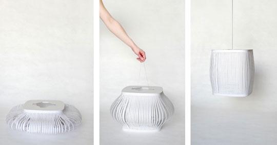 Double Stray Tyvek Pendant Lamps by Inga Sempé