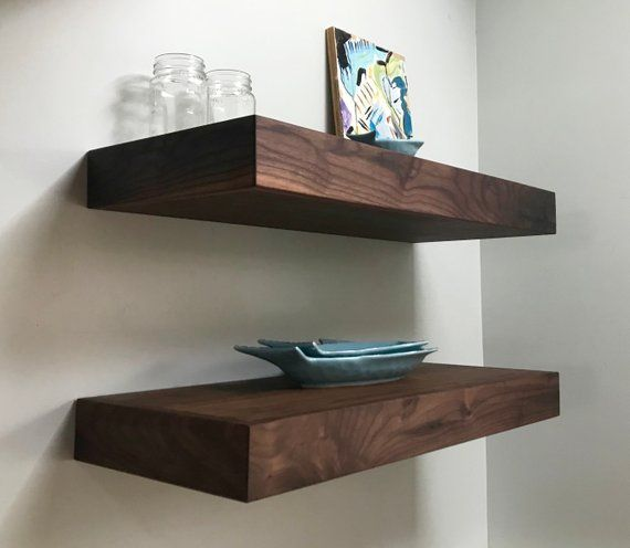 Dakoda Love 24 X 5 25 Clean Edge Solid Wood Floating Shelves Premium Handmade Quality Easy Hidden Bracket Wall Mount Modern Rustic Pine Set Of 2 Espr Floating