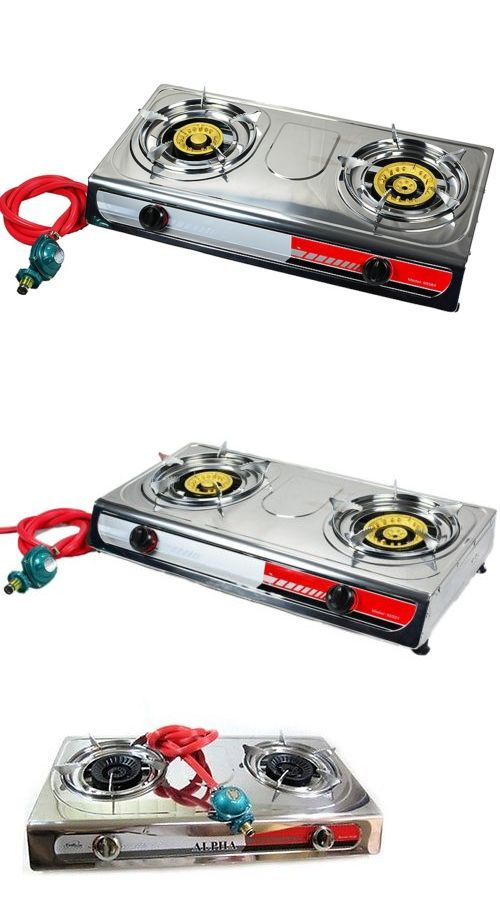 appliances: Portable Propane Gas Stove Double 2 Burner Camping Tail Gate Tailgating Stoves -> BUY IT NOW ONLY: $40.95 on eBay!