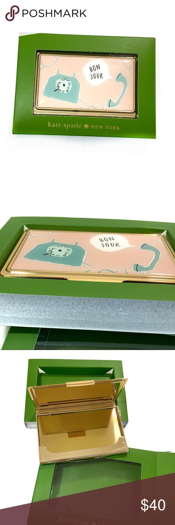 5🌟 kate spade lenox bon jour business card holder  kate