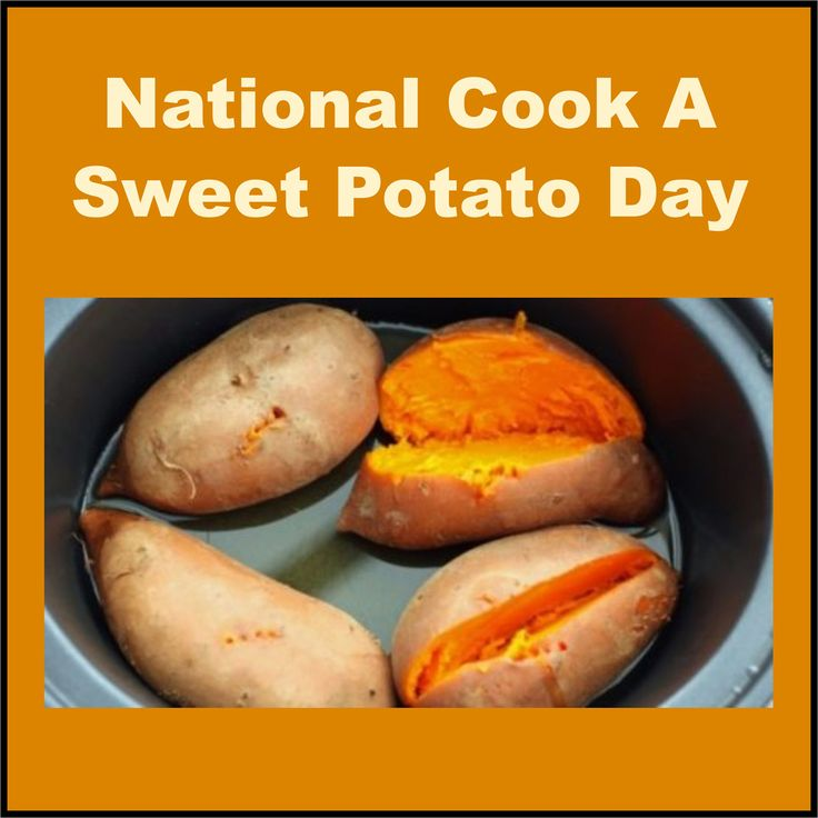 Happy National Cook A Sweet Potato Day from Sofi & Friends