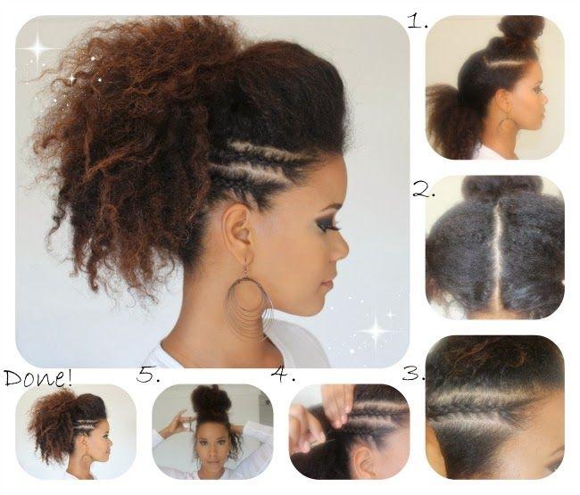 Coiffure cheveux crepus