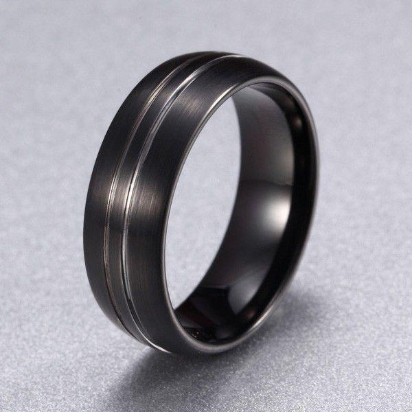 A.Angelini Herren-Ring mit Streifen - Jetzt reduziert bei Lesara