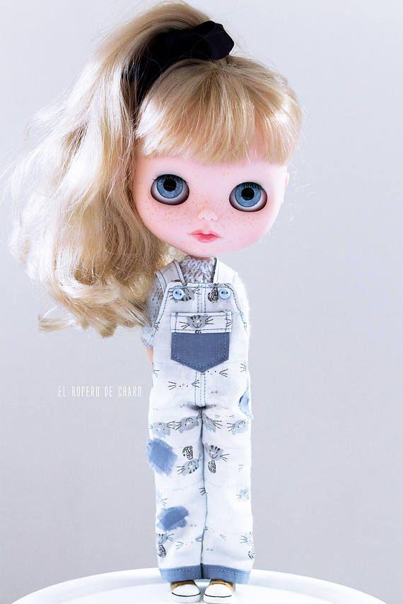 Kombinézy a Sweater pro Blythe panenky - svetr pro Blythe panenky a Peto