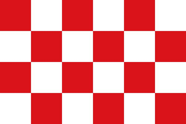 Netherlands Province of North Brabant Flag.  Rob's 10th great grandfather Jacques De Le Plancque and his daughter Sarah De Plancken (Montfort), Rob's 9th great grandmother, were both born in North Brabant.