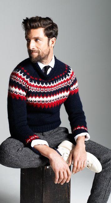 Nordic sweater #fashion // #men // #mensfashion