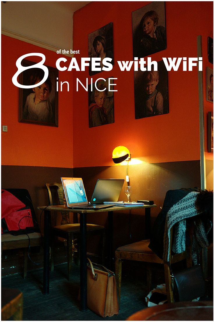 Discover the best cafés to work on your laptop while eating or drinking in Nice, French Riviera (Côte d'Azur), France