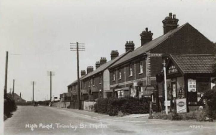 Carters Grocers Store on the corner of Mill Lane/High Road, Trimley St. Martin