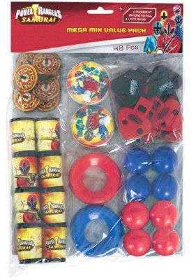 Power Rangers Samurai Party Favor Value Pack (Multi-colored) Party Accessory:Amazon:Toys  Games