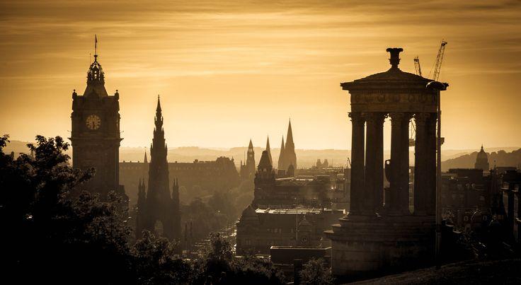 https://flic.kr/p/zp48i8 | Edinburgh Skyline | A Misty Sun Setting over the beautiful city of Edinburgh from Calton Hill. IMG_7717