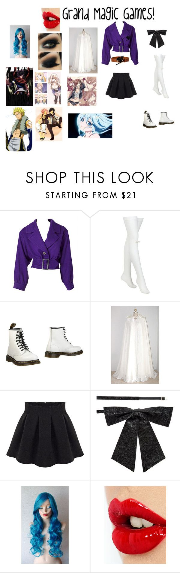 """""""The Grand Magic Games!"""" by reirei-123 ❤ liked on Polyvore featuring Yves Saint Laurent, Frame, Chantal Thomass, Dr. Martens and Charlotte Tilbury"""