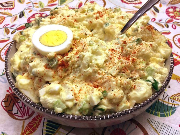 This easy potato salad is the best potato salad recipe ever! Once you try this amazing recipe, you'll never have potato salad any other way! Secret ingredient is revealed below! This creamy potato salad is the king of all potato salads! This easy potato salad recipe with egg is so simple, yet so mouthwatering! Bring it to a potluck and there won't be a single drop of this potato salad left. Not a crumb! The bowl will be scraped out so clean, you won't believe it! The secret i...