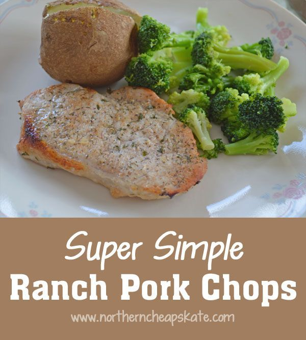 Baked pork chop recipes with ranch