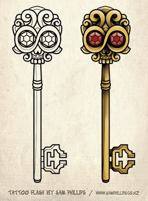 Skeleton key tattoo                                                                                                                                                                                 More