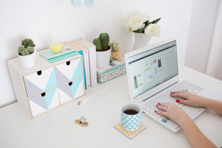 Keep your space tidy with a DIY desk organizer.