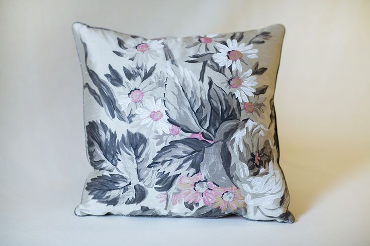 Handmade Pillow 	Size: 15.5 x 15.5 inch 	Up-cycled Fabric  Each piece has been thoughtfully designed and locally produced, by hand, primarily from resources diverted from the waste stream.   We hope you will LOVE your new accessories as much as we loved creating them for you!