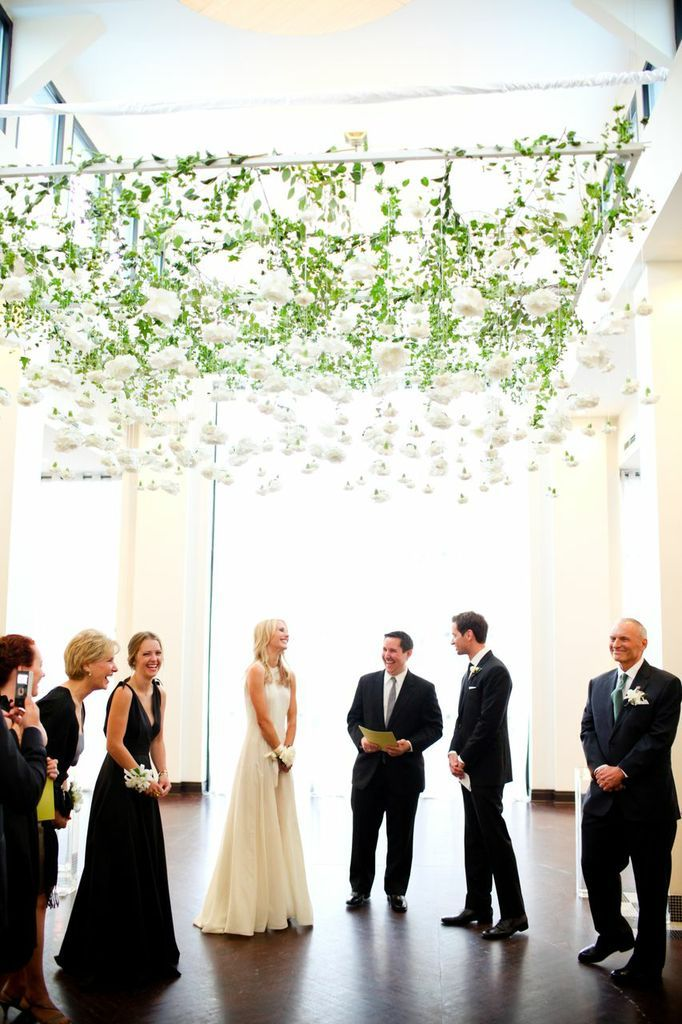 Floral and greenery ceremony grid. Anne Book Signature Style - Amanda Hein Photography