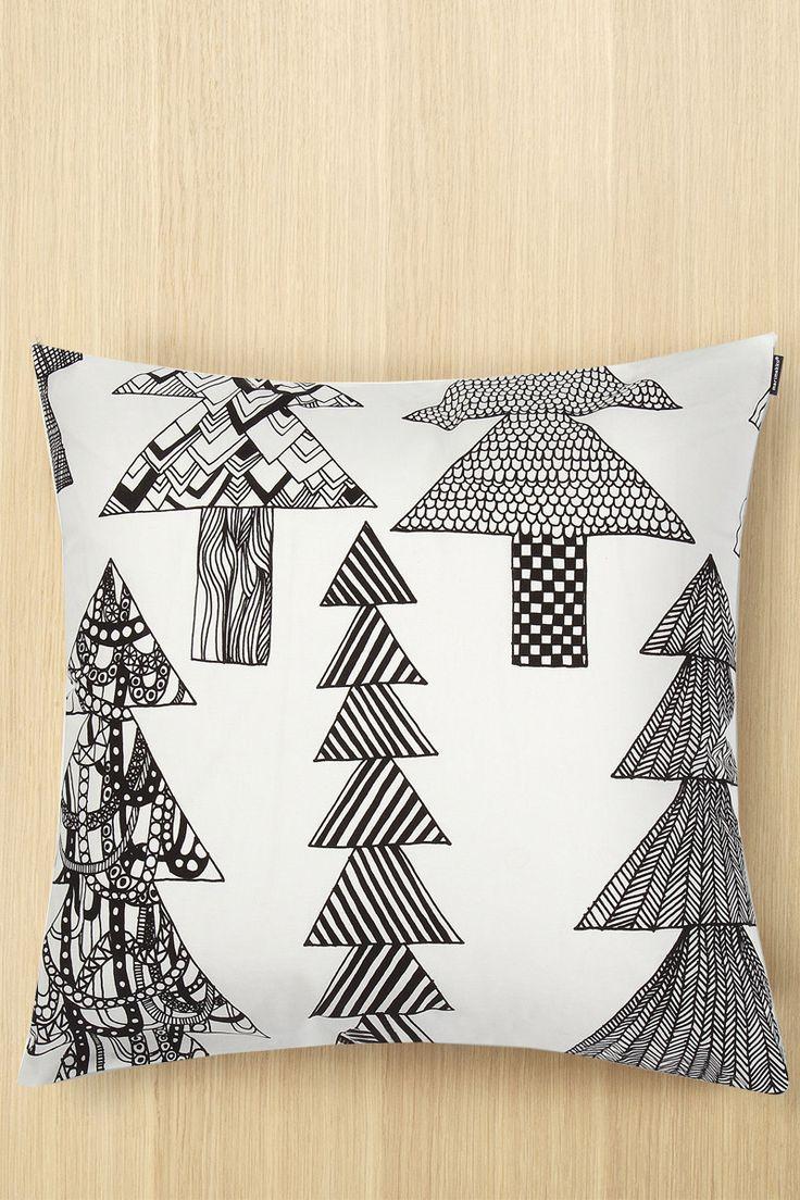 The Marimekko Kuusikossa Pillow Cover for Winter 2016 Home. http://ss1.us/a/UHG3nsXm #marimekko #kuusikossa #pillow #kiitoslife #kiitoslifenyc
