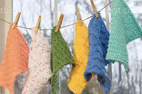 LOOM KNIT WASH CLOTH PATTERNS.  (7) unique patterns included.  Learn (7) Loom Knitting Stitches while Looming these beautiful cotton cloths!