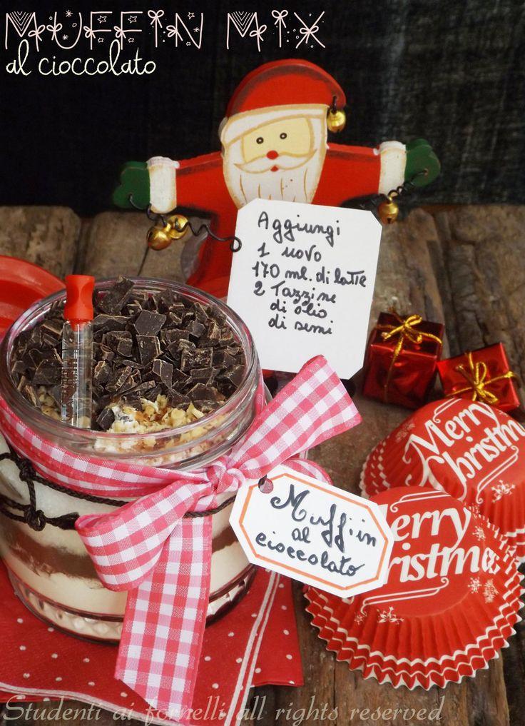 muffin mix al cioccolato in barattolo idea regalo per natale economica e veloce
