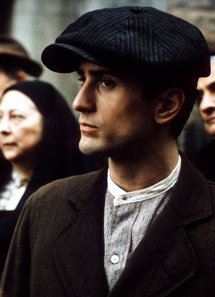 """Robert De Niro as the younger Vito Corleone in """"The Godfather: Part II"""", 1974"""