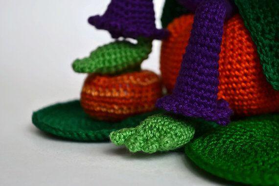Halloween decoration Crochet Art doll OOAK Jack от CrochetRedCat