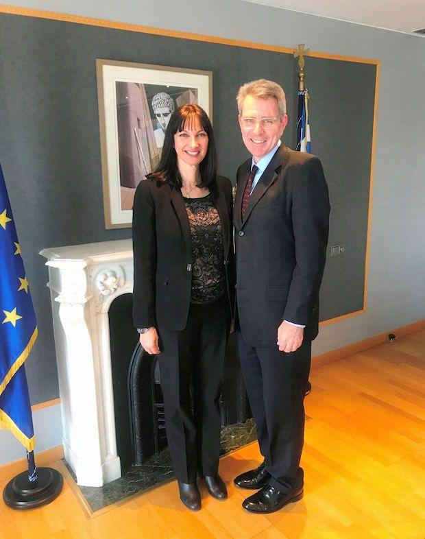 Συνάντηση της Υπουργού Τουρισμού κας Έλενας Κουντουρά με τον Πρέσβη των ΗΠΑ, κ. Geoffrey R. Pyatt