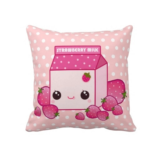 Strawberry Milk kawaii pillow <3