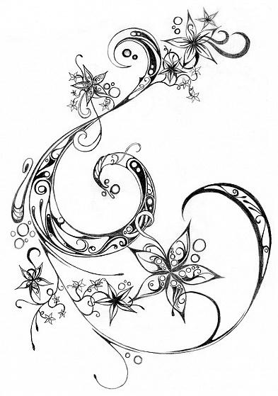 Tattoo Black Small Star Rib Cage