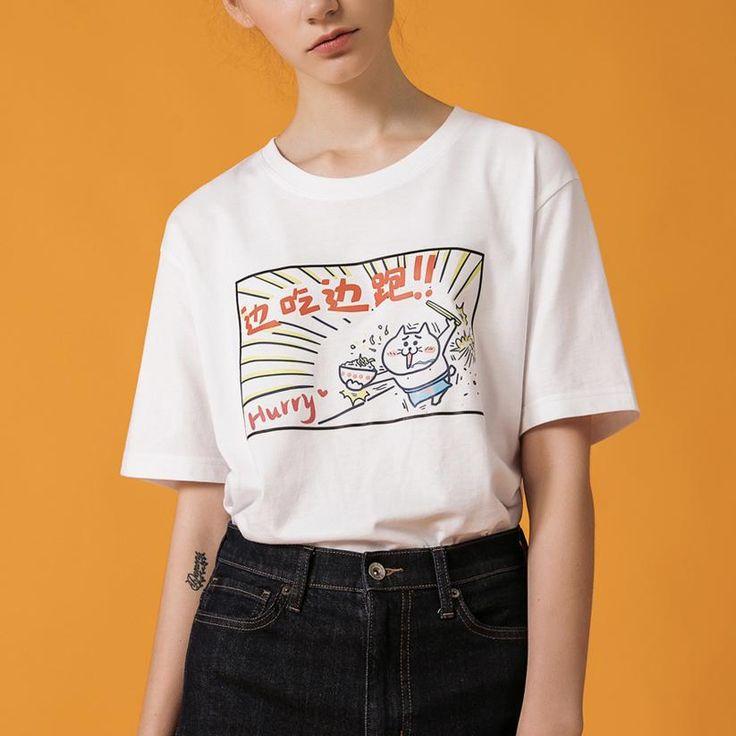 Cut cat food casual t-shirt SD00575