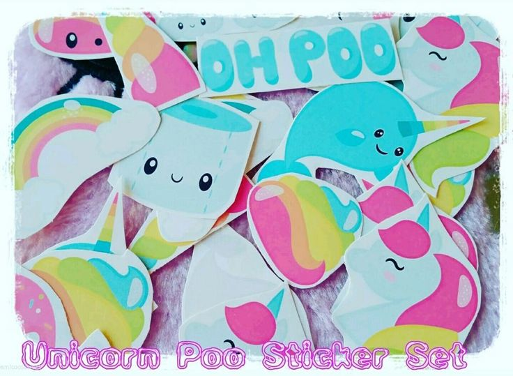 Unicorn Poo Stickers,Tumblr stickers/laptop sticker/fun stickers/Kawaii stickers in Crafts, Scrapbooking & Paper Crafts, Scrapbooking | eBay!