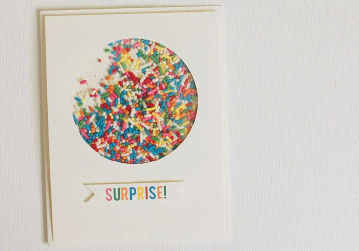 Surprise! It's Time for a Sprinkle… (baby shower) Invitation/Card Idea from Just Make Stuff Blog