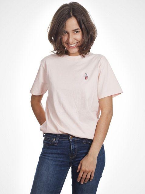 Shake Shirt in Peach by Wemoto