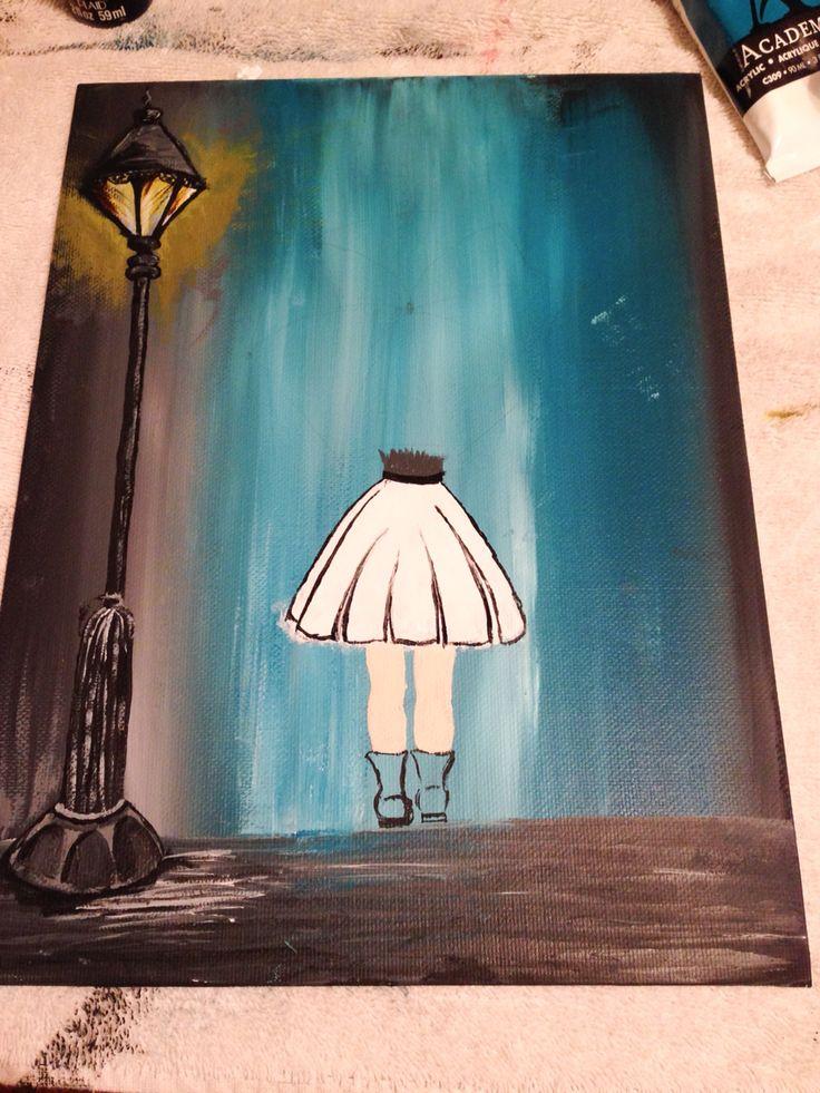 The skirt. White and black