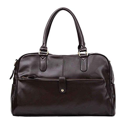 awesome Tenflyer Men Casual Faux Leather Shoulder Bag Handbag Computer Bag Sports Duffle Tote