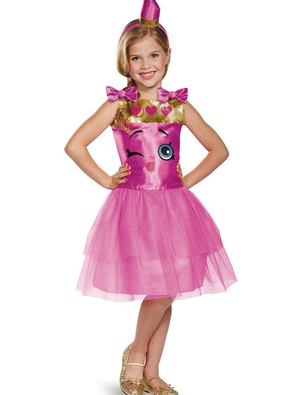 Check out Shopkins Lippy Lips Classic Girls Costume - Shopkins Girls Costumes from Wholesale Halloween Costumes