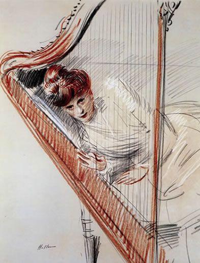 Technique des trois crayons par Paul-César Helleu [Born: December 17, 1859, Vannes, France Died: March 23, 1927, Paris, France]