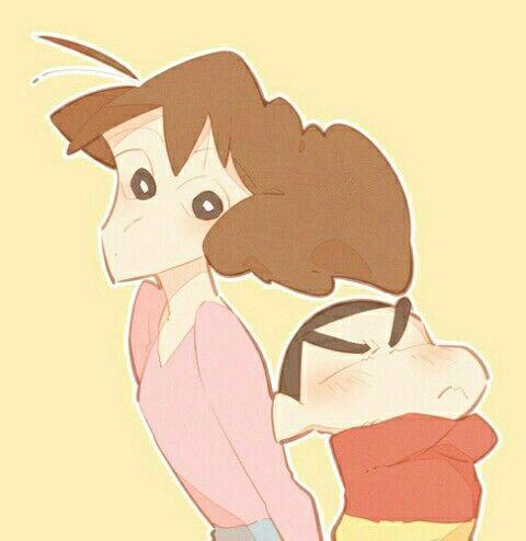 Crayon Shin-chan - Misae and Shin
